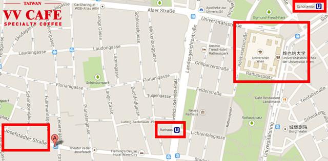 維也納咖啡館KAFFEEMODUL地圖