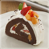 草莓蜜瓜巧克力蛋糕卷