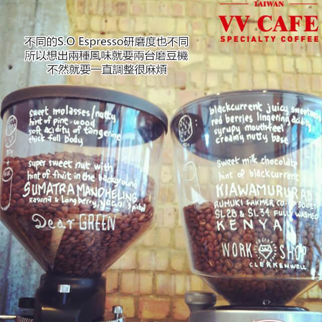 S.O Espresso和研磨度